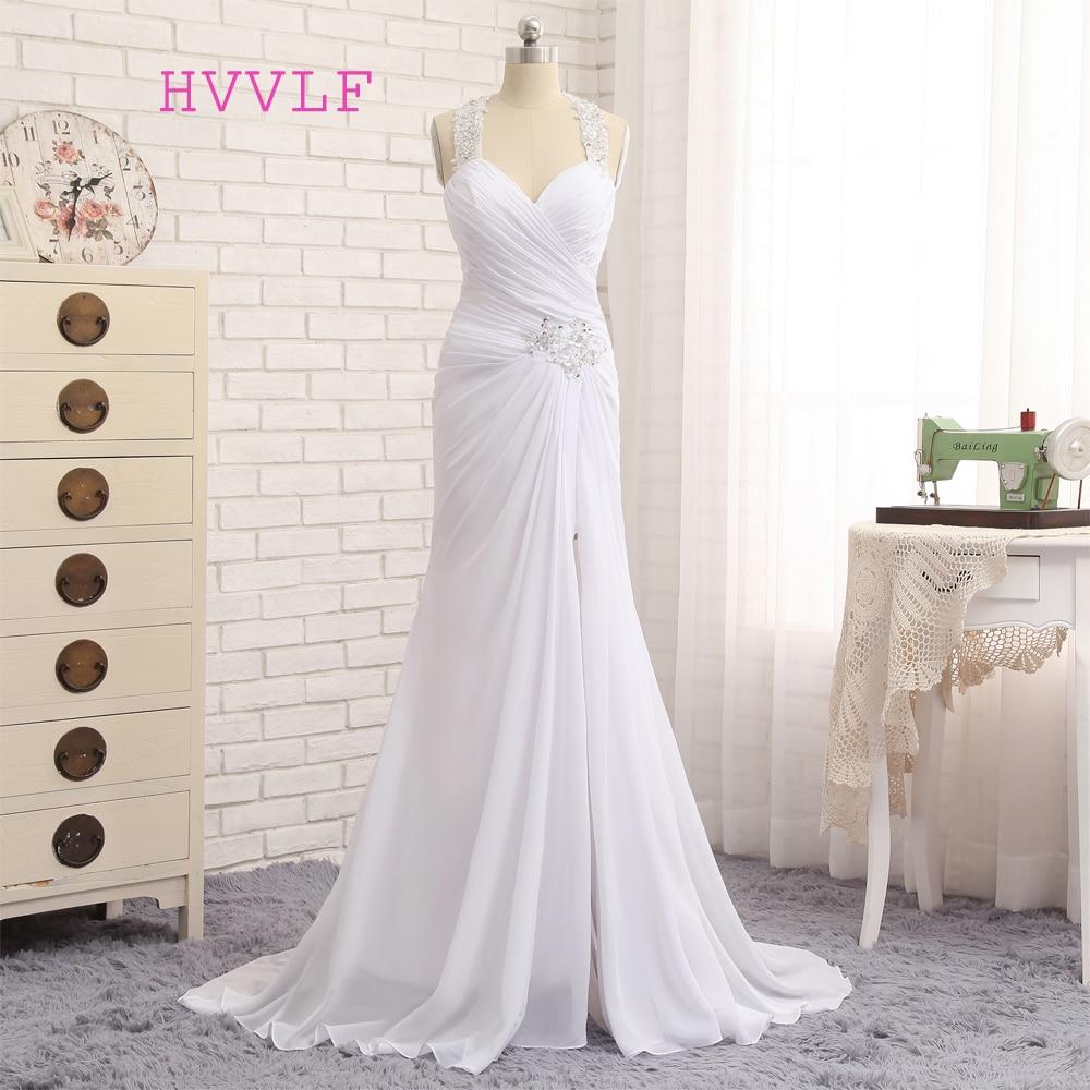 Vintage Wedding Dresses 2019: Vestido De Noiva 2019 Beach Wedding Dresses Mermaid Halter