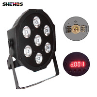 Fast Shipping American DJ Flat SlimPar Quad 7 RGBW Color Mixing LED 12Wx7pcs DMX Light