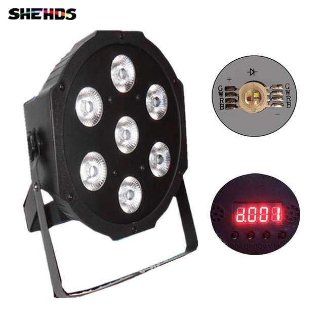 American DJ Flat SlimPar Quad 7 RGBW Color Mixing LED 7x12W DMX Light Uplighting  Fast Shipping
