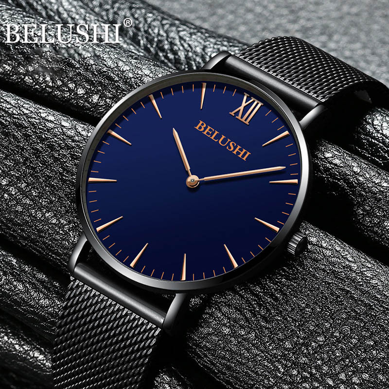 Fashion Simple Men Watch Top Brand Luxury Business Waterproof Quartz Wrist Watch Men Clock Male relogio masculino erkek kol saat 2017 luxury brand fashion personality quartz waterproof silicone band for men and women wrist watch hot clock relogio feminino