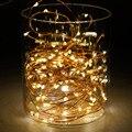 3 M 30 PIES LED AA Batería Operado cadena de Alambre de Cobre luz LED 4.5 V Impermeable LLEVÓ la luz de la Secuencia de Vacaciones de Navidad de Luz luces