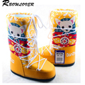 RBOWLOVER 2017 Christmas Winter Women Goat Boots Newest Hot Selling  Fashion Snow Boots No-Slip Lace-Up Ski Boots Big Size