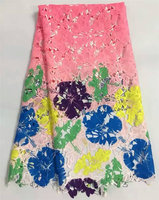 African Lace Fabric With Nice Flower Latest High Quality African Cord Laces Guipure Lace Fabric For
