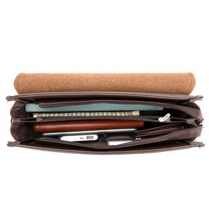 Image 5 - Bolsa de Ombro negócio Saco Dos Homens Messenger Marca canguru Crossbody bag para o sexo masculino Moda Casual Homem do vintage de Couro PU Bolsas