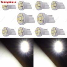 Lampada 8 led-placa de luz t10-super potência para carro (branco/vermelho/amarelo /verde/ azul /azul /azul de gelo