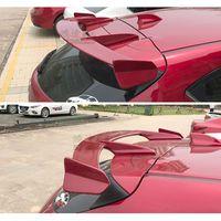 For Mazda 3 Axela hatchback 2013 2018 Rear Wing Spoiler, Trunk Boot Wings Spoilers Resin fibre Grey primer screw fixing