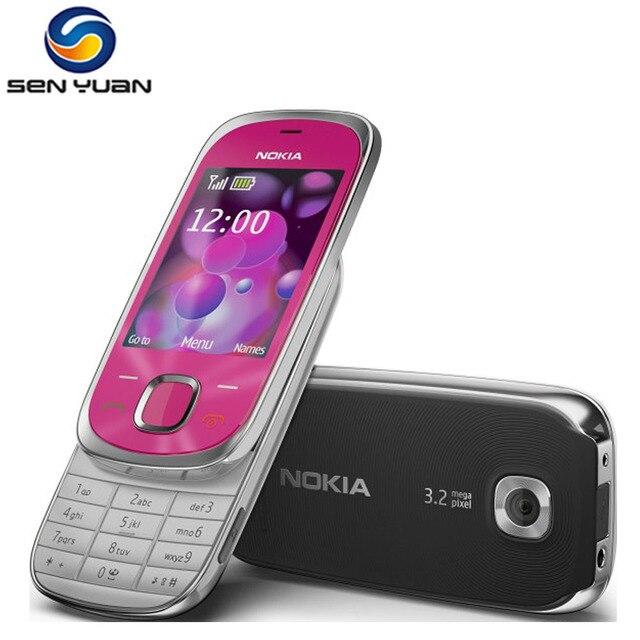 7230 Original Unlocked Nokia 7230 3G điện thoại di động 3.2MP Máy Ảnh Bluetooth FM JAVA MP3 giá rẻ điện thoại di động