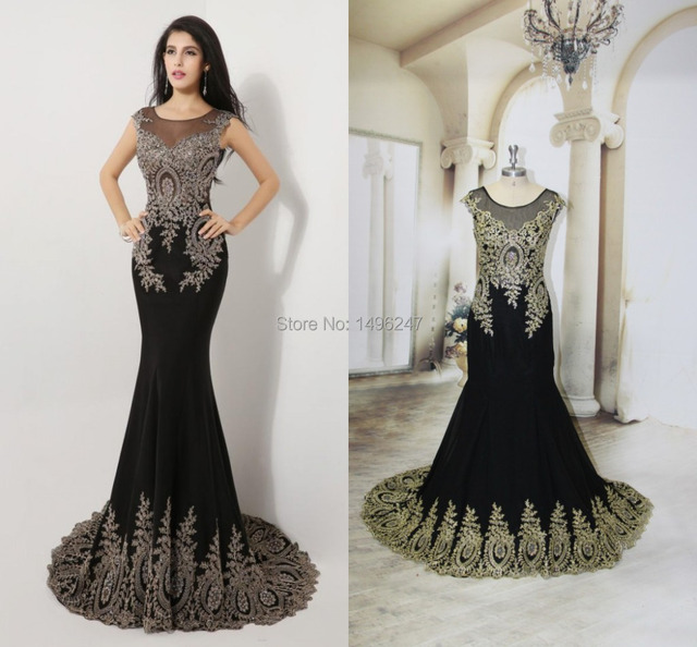 High Quality See Through Black Lace Women Formal Evening Dresses-in ... 3b805de07ad5