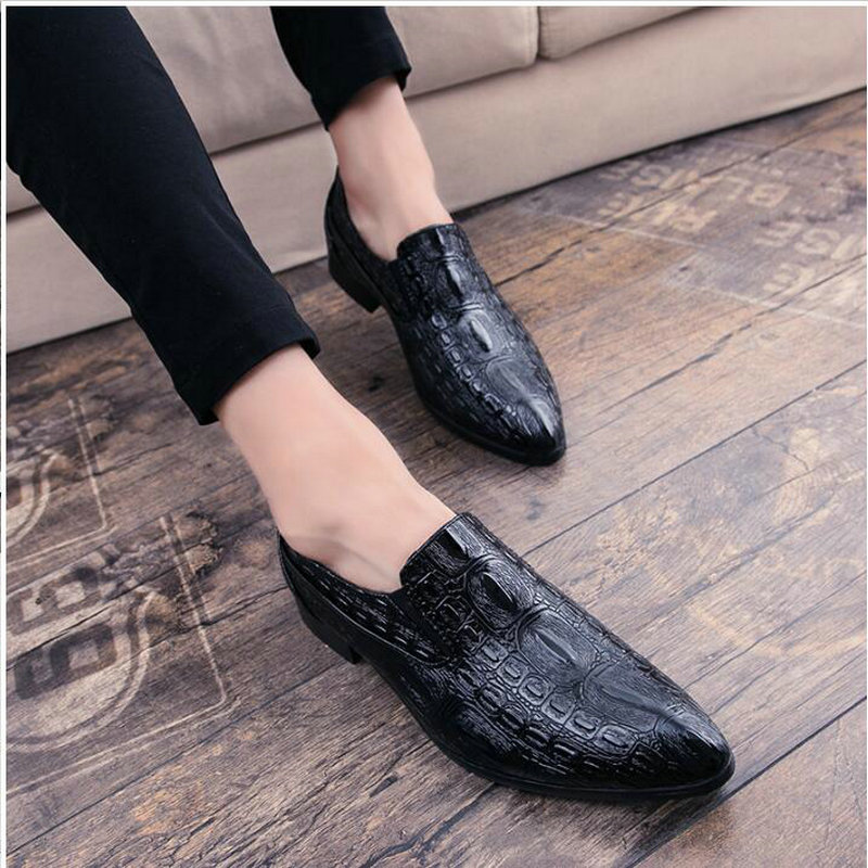 Hot Sale Crocodile pattern Male Slip-On Driving Shoes Pointed toe Soft Comfortable Designer Loafers Moccasins for men LK-22Hot Sale Crocodile pattern Male Slip-On Driving Shoes Pointed toe Soft Comfortable Designer Loafers Moccasins for men LK-22