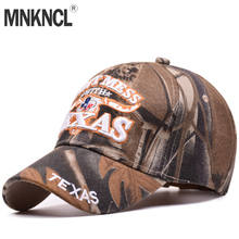e9a6d4a496be5 MNKNCL 2018 New Baseball Caps Fashion Letter TEXAS Embroidery Camo Sport Hat  Outdoor Baseball Cap Men