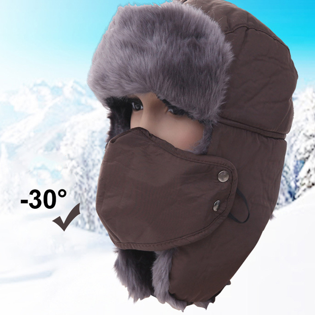Hot Sale 1 PCS Autumn Winter Hats Waterproof Masks Women Bomber Caps Keep  Warm Thicken Wool Ladies Fashion Casual Hat Cap 081f01a1118