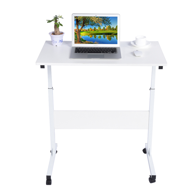 adjustable height over bed table laptop cart white computer desk office notebook computer desks - Adjustable Height Computer Desk