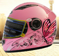 women's pink butterfly full face Motorcycle helmet, Turbo Motorbike motocross YEMA 827 knight Racing helmets,Hot sell