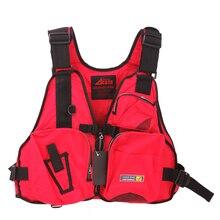 Outdoor Men Women Vest Fishing Vest Life Vest Adult Polyester Drifting Boating Survival Safety Jacket Water Swimming Life Jacket
