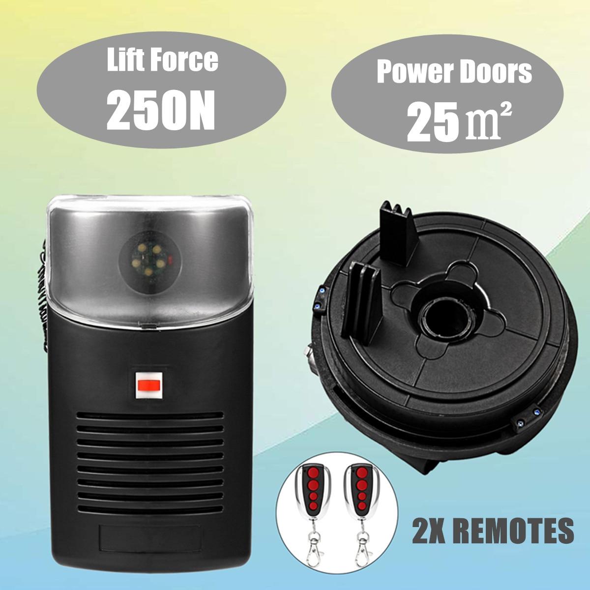 80 W 433 MHZ 250N ouvre-porte de rouleau de Garage moteur porte roulante automatique télécommande porte coulissante Machine ouvre-porte électrique - 6