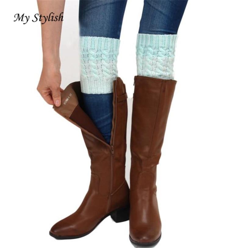 1 Pair Winter Warm Women Fashion Stretch Boot Leg Cuffs Adult Socks Top Quality Comfortable Soft Socks Hot Sale Dec 1