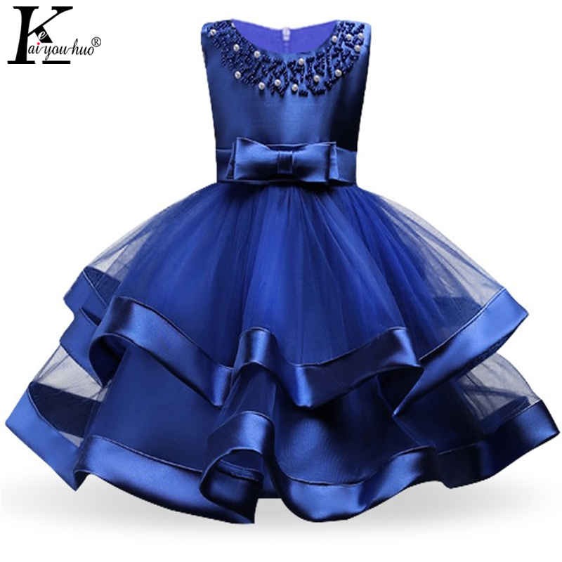 цены Kids Dresses For Girls Clothes Summer Princess Girls Dress Party Tutu Wedding Dress Children Clothing Vestidos 3 4 5 6 7 8 Years
