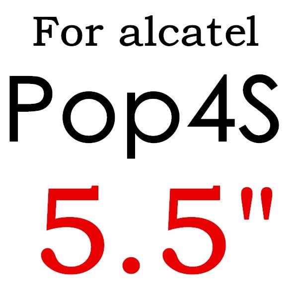 Экран протектор Закаленное Стекло для Alcatel One Touch Pop 3 5,5 5025D Idol 3 POP4 5051 4S Pixi 4 5,0 5010 Pixi3 4,5 5019D 5017 - Цвет: For POP 4S