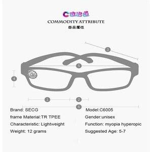 Image 5 - SECG Ultralight เด็กผู้หญิงกรอบแว่นตาสายตาสั้นแว่นตาเด็กกรอบแว่นตานักเรียนแว่นตา