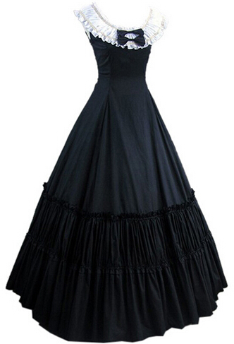 Sans manches sud cloche Costume gothique Lolita robe victorienne fête Halloween Costumes pour femmes adulte personnalisé
