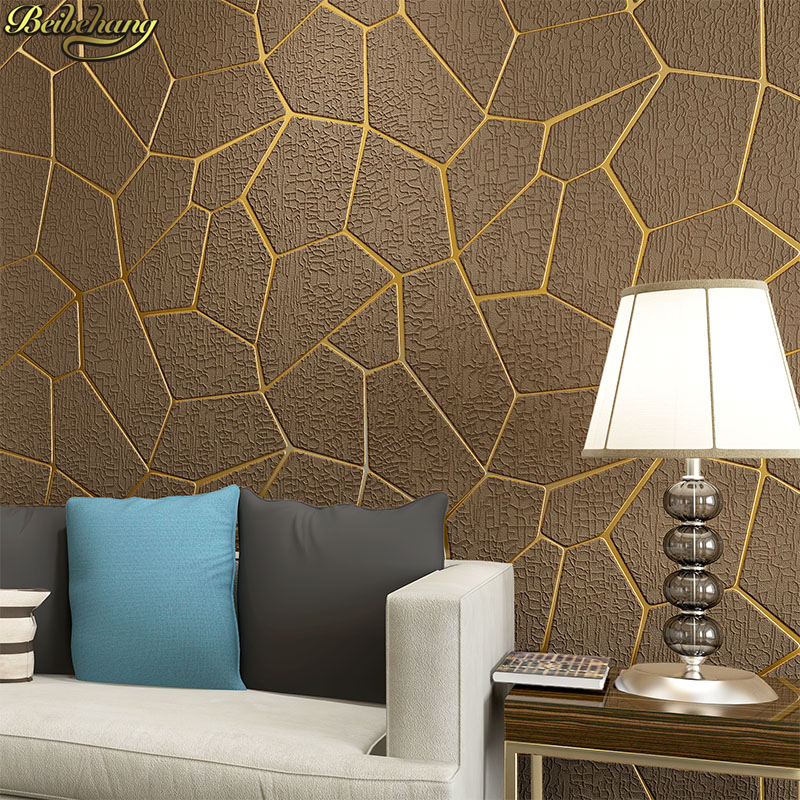 beibehang Modern Irregular geometry Modern Wallpaper For Walls Decor 3D Wall paper Rolls For Bedroom Living room Sofa Background non woven bubble butterfly wallpaper design modern pastoral flock 3d circle wall paper for living room background walls 10m roll