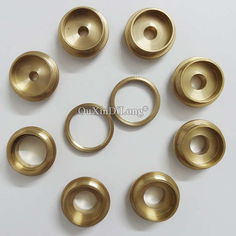 10PCS/Set Brass Router Template Guide Bushing Kit Set For Wood Router JF1658