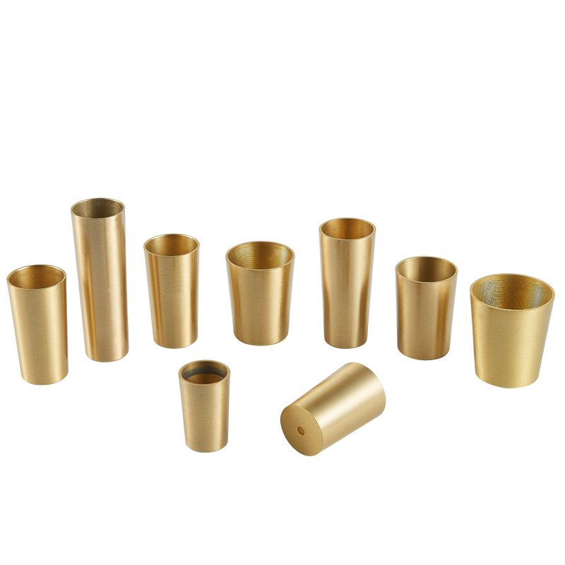 60mm High Brass Cabinet Leg Covers Chair Cups Furniture Leg Tube Protector Table Feet Cover Free Shipping
