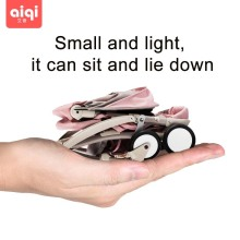 AIQI BABYYOYA lightweight portable folding mini baby stroller can sit can lie baby trolley on the airplane umbrella new upgrade цены онлайн