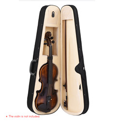 Professional 4/4 Full Size Violino Forma de Triângulo Caixa Caso Duro & Super Leve com Alças de Ombro Preto