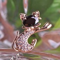 Very Cool Cat CZ Diamond Crystal Brooches Bijuterias Collar Men Brooch Pins And Broaches Women Gold Broach Relogio Feminino Vaz