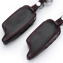 A6 A9 ЖК-пульт дистанционного управления брелок кожаный чехол для двусторонней автомобильной сигнализации StarLine A6 A9 A8 чехол для ключей держатель