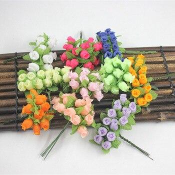 1 Uds. Ramo de rosas de Granada para novia vintage de seda sintética