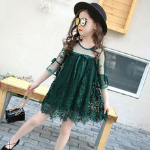 Girls Dresses Children Clothing New Summer Lace Flower Half Sleeve Princess Dress Girl Clothes Fashion Baby Girls Dress недорого
