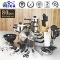 2017 Fda Panelas Ceramica Llegada Top Moda Real Utensilios de Cocina Ollas Y Sartenes Conjunto 80 Unidades de Cocina de Arranque Combo utensilio