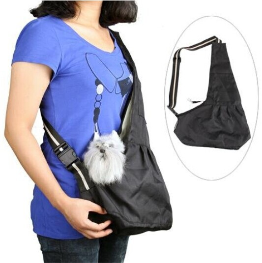 Pet carrier Sling Bag Foldable Waterproof Fabric Pet Dog Cat Cross Body Bag Messenger Bag Satchel S L