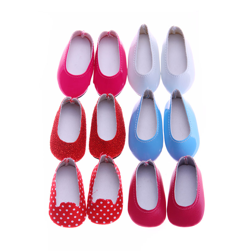 5 colors Best sweet girl Gift 14.5 Inch shoes for Wellie Wisher doll Dress Shoes Doll accessories