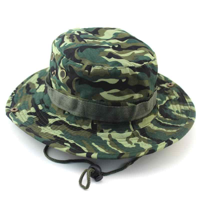 100a31849ae57 Tactical Airsoft Sniper Camouflage Boonie Hats Nepalese Cap Militares Army  Mens Military Accessories A-tacs