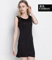 50% Silk 50% Viscose Women's Stretch Full Slip Sleepwear Nightdress Chemise Nightgown HY105