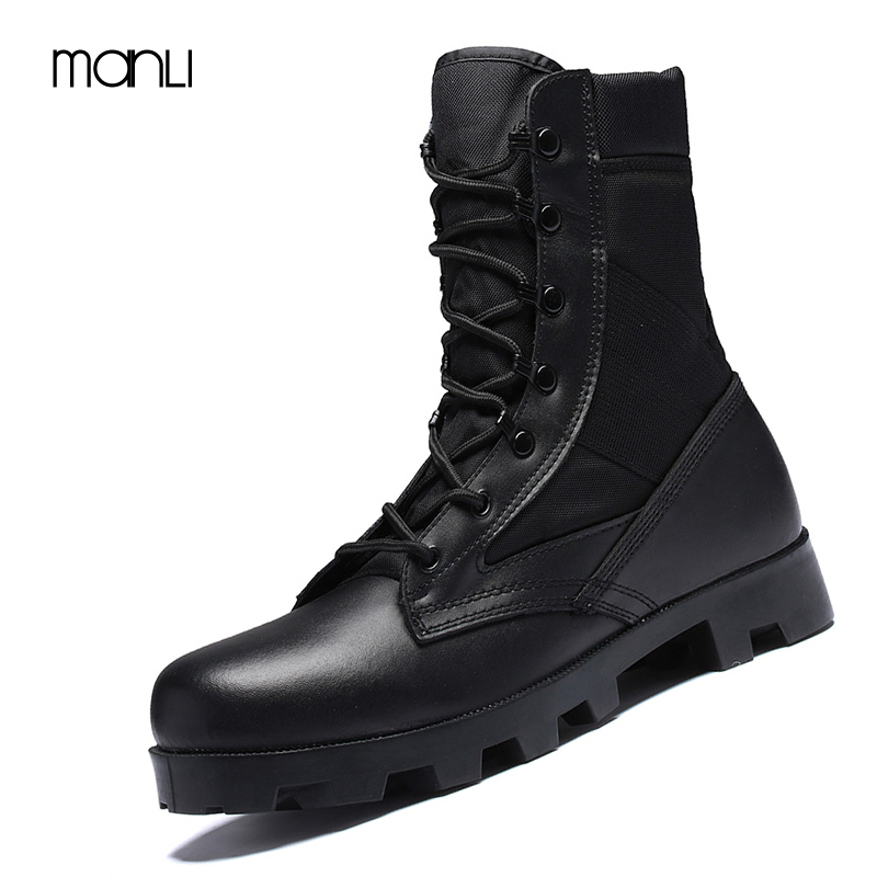 MANLI Outdoor Army Boots Men's Military Desert Tactical Boot Shoes Autumn Breathable Combat Ankle Boots Botas Tacticos Zapatos men s outdoor hunting hiking mountain non slip lace up mesh breathable ankle high boots tactical army desert sport shoes boot
