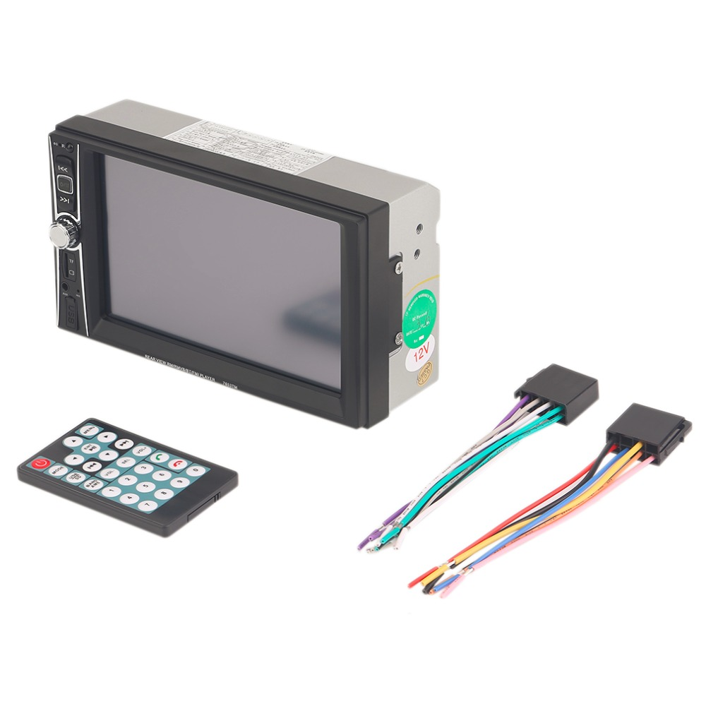 Hot Sale 7563TM Car 6.6 Inch TFT HD DVD Player Vehicle Head Unit Stereo MP3 Player Double 2 DIN Bluetooth Touch FM Radio