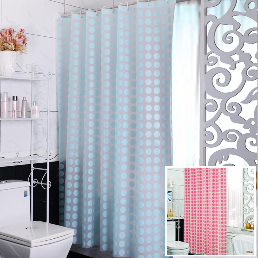 2m heigt popular bathroom curtains big circle blue and pink waterproof shower curtain fabric. Black Bedroom Furniture Sets. Home Design Ideas
