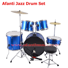 5 Drums 2 Crash Cymbals / Blue color / Afanti Music Jazz Drum Set / Drum kit (AJDS-427)