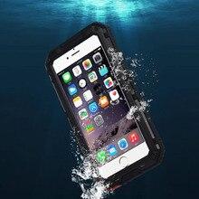 IP68 100% водонепроницаемый подводного плавания 3 м Дайвинг металла алюминиевая телефон чехол для iPhone 6 6S 7 Plus чехлы закаленное стекло