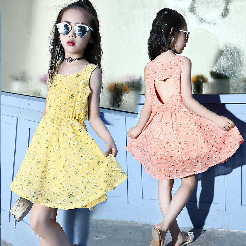 Girls Dress 2018 Brand Bohemia Children Dress Girls Summer Floral Party Dresses Toddler Clothing Kids 4 <font><b>5</b></font> 6 8 10 12Years image