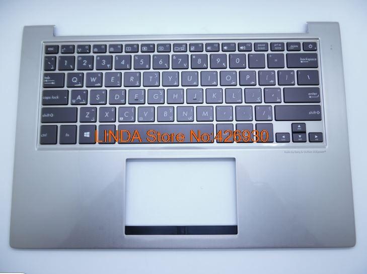 Laptop Palmrest&Keyboard For ASUS UX32 UX32A UX32E UX32V BX32 UX32VD Silver C shell Czech/Slovakian/Russian/US keyboard laptop keyboard for acer silver without frame bulgaria bu v 121646ck2 bg aezqs100110