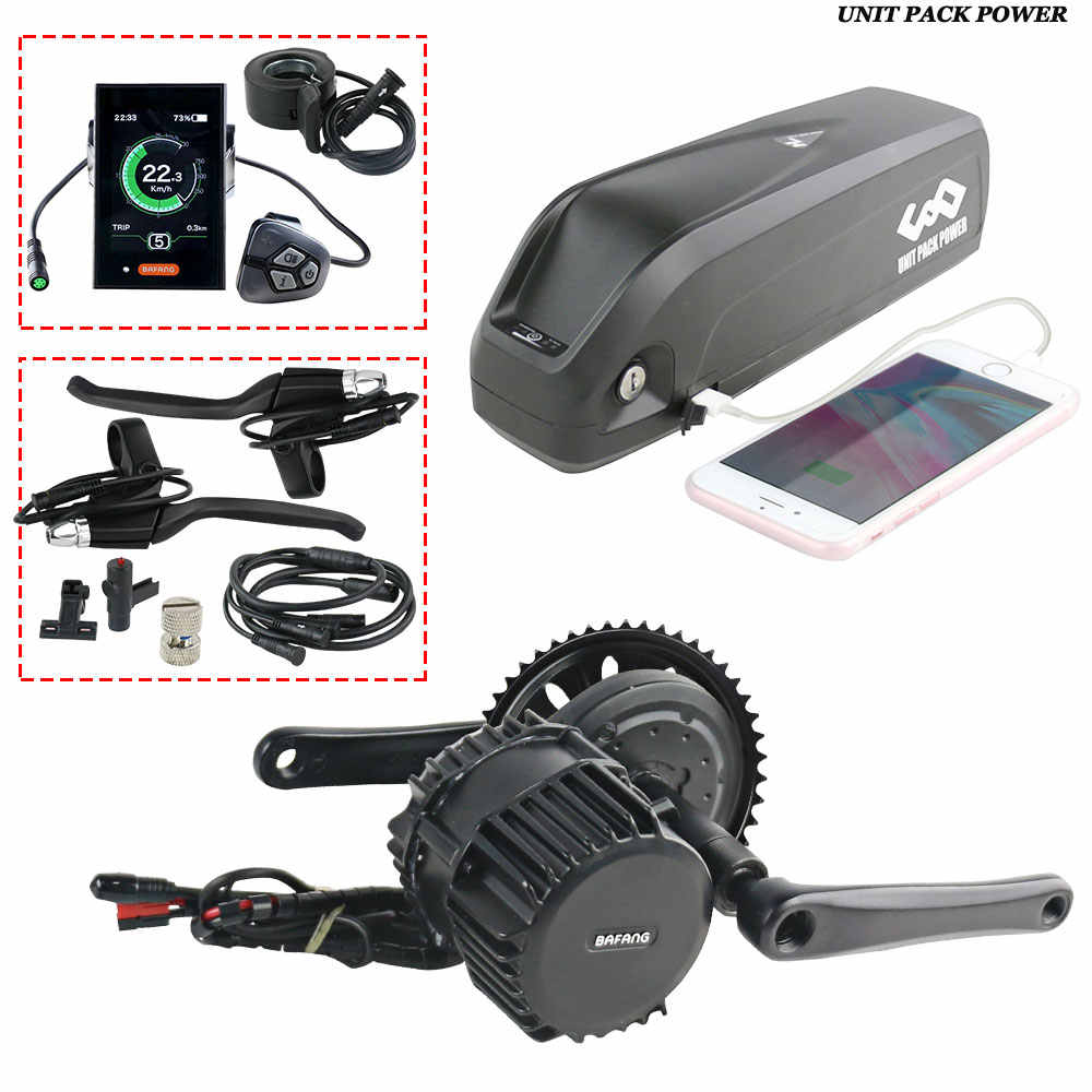 Bafang 1000W BBSHD Motor with 52V 13Ah Ebike Battery whole motor Kits C18 LCD with Hailong 3 Battery
