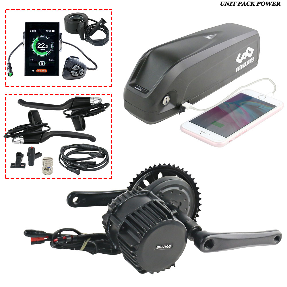Bafang 1000W BBSHD Motor with 52V 13Ah Ebike Battery whole motor Kits C18 LCD with Hailong