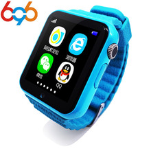 """696 Children Security GPS Smart watch V7K 1.54"""" Screen With Camera facebook SOS Call Location Devicer Tracker for IOS&Andro"""
