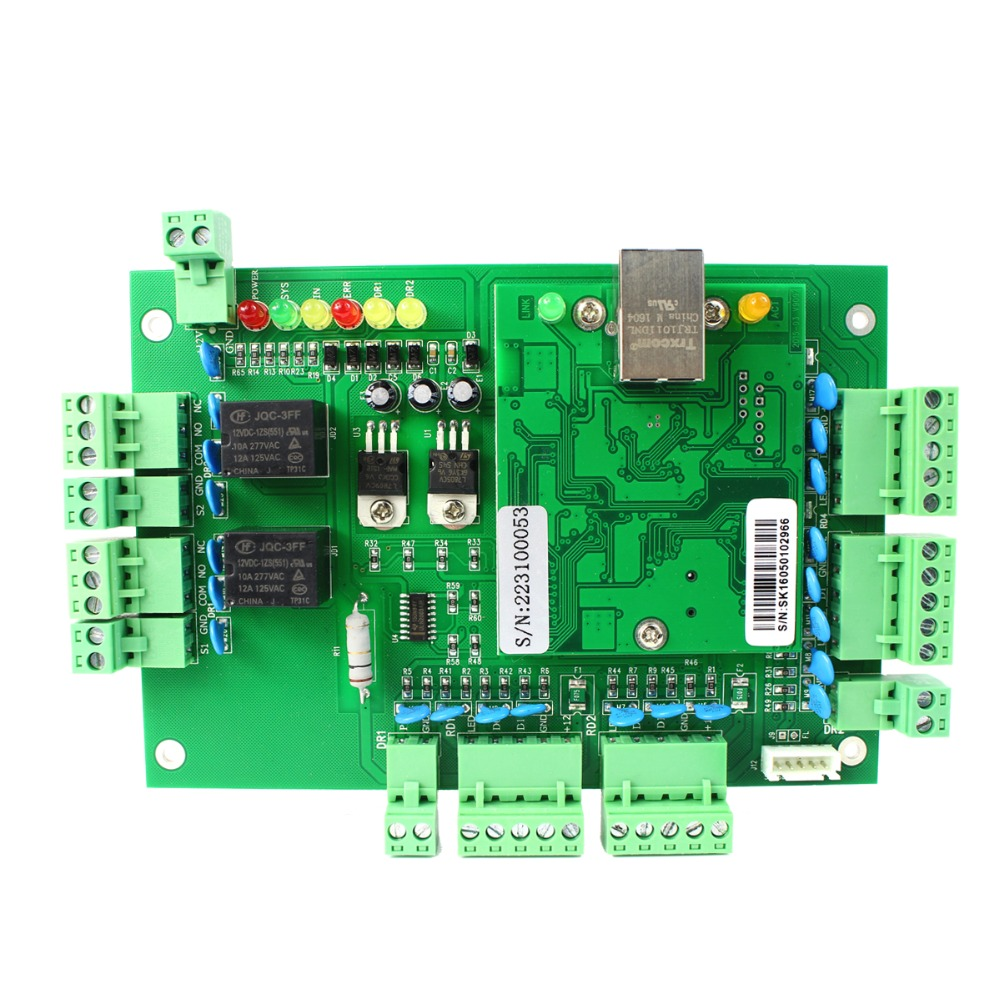 ФОТО TIVDIO Generic Wiegand TCP/IP Network Entry Access Control Board Panel Controller for 2 Door 4 Reader F1647G