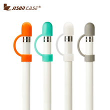Jisoncase 2 Pieces Protective Cozy Pencil Caps for Apple Pencil Cap Cover Case Silicone Anti-lost Holder Cable Connector Tether
